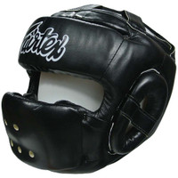 HG14 Fairtex Black Full Face Head Guard