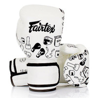 Fairtex Muay Thai Gloves White Street Art