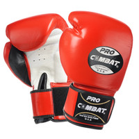 PRO COMBAT® MUAY THAI / BOXING GLOVES RED COLOR