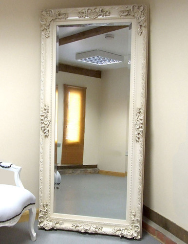 Beautiful Paris Shabby Chic Extra-Large Wall Leaner Full Length Mirror  NQ72