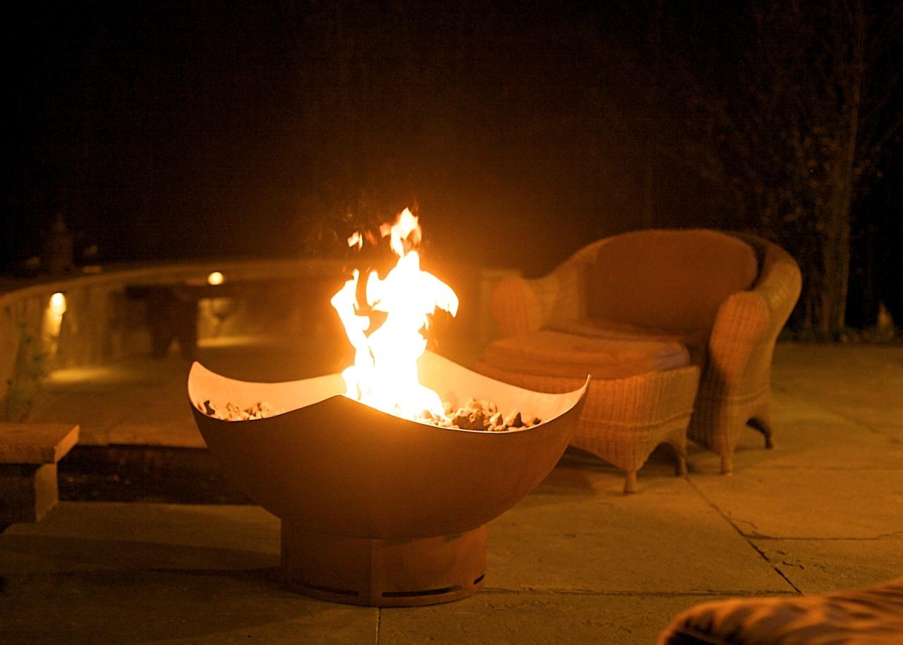 Manta Ray Fire Pit Wood Burning Natural Gas Or Liquid