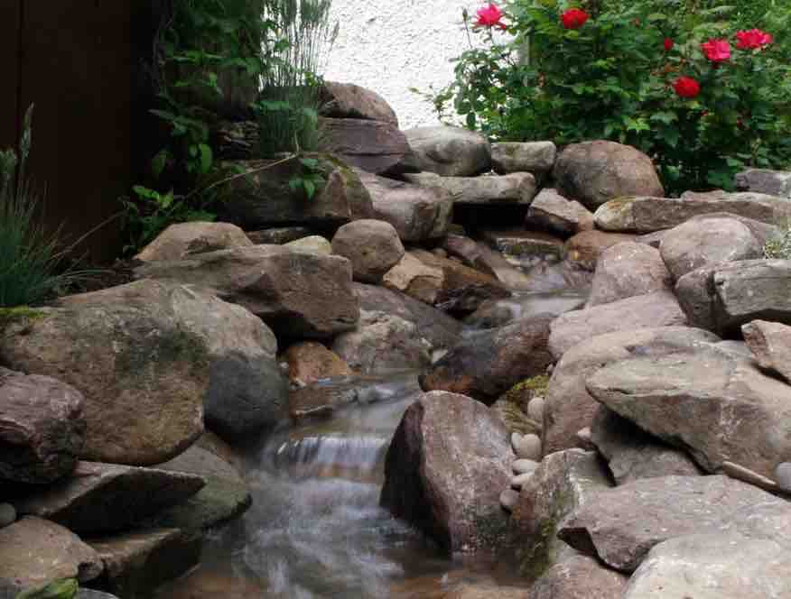 backyard waterfall pond