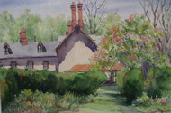 """SUMMER GARDEN"" WATERCOLOR PA ARTIST RUTH MARIE THOMPSON"