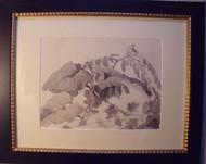 """""""LEAVES"""" GRACE WOOD HERRING AMER CA 1950-60 CUSTOM FRAMED"""