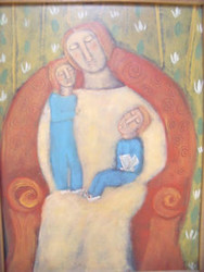 "ROSE WALTON AMERICAN PA ARTIST ""MOTHER"" ARTIST CUSTOM FRAMED"