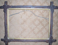 OLD CROSSHATCH  FRAME CA 1900 WITH GOLD INSET VERY GOOD CONDITION