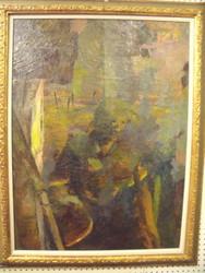 SELF PORTRAIT ABSTRACT GRACE WOOD HERRING AMER CA 1950-60