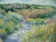 THE GATHERING WATERCOLOR PA ARTIST RUTH MARIE THOMPSON