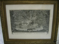 CA 1780 FRENCH ENGRAVING BEAUTIFUL TROISIEME JOURNEE LOVELY GOLD FRAME