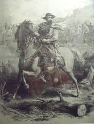 WS ROSENCRANS AND STAFF CIVIL WAR ENGRAVING CUSTOM GOLD FRAMED