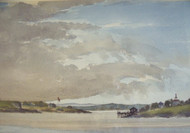 ARNOLD NELSON ANDERSON: Listed NJ/Casco Bay Maine Watercolor Harbor Scene CA 1933