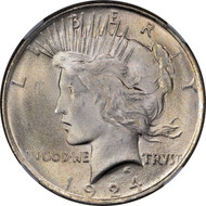 1924- P Peace Silver Dollar Brilliant Uncirculated - BU