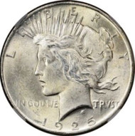 1925- P Peace Silver Dollar Brilliant Uncirculated - BU