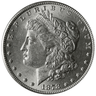 1878-P Morgan Silver Dollar BU 7 Tail Feather