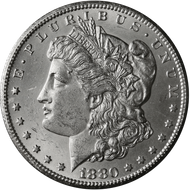 1880-CC Morgan Silver Dollar Brilliant Uncirculated - BU
