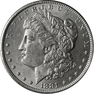 1881-O Morgan Silver Dollar Brilliant - BU