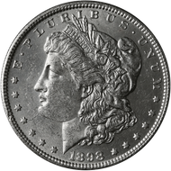 1898-P Morgan Silver Dollar Brilliant Uncirculated - BU