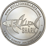 1 oz Bullion Shark Silver Rounds