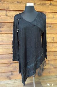 Lace Panel Black Tunic