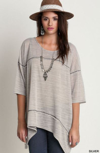 Relaxed fit Square Stitching Tunic