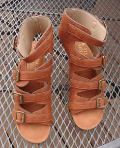 Golden Tan Buckle Sandal