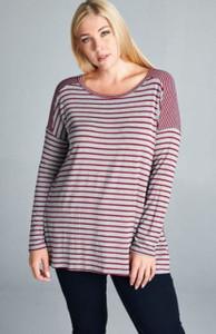 Jersey Knit Stripe Top