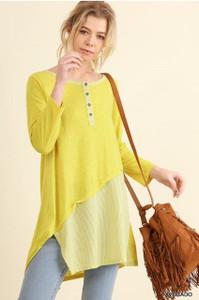 Lightweight Lemon Striped Tunic