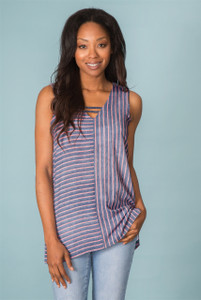 Plus Up and Across Striped Top