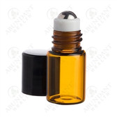 Amber 2ml Roll-On - Holds 40 drops