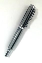 Webster Pen in Black & White Vertical Stripes