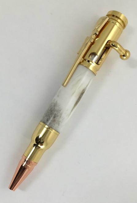 deer antler bolt action pen