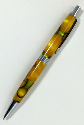 Lamar Mechanical Pencil in Yellow Gold & Black