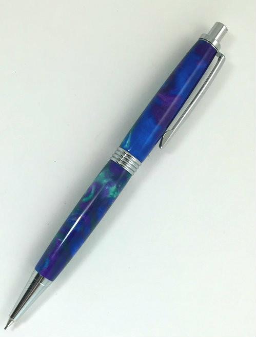 blue mechanical pencil