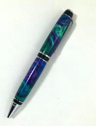 big pen in peacock colors