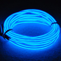 TDLTEK Neon Glowing Strobing Electroluminescent Wire /El Wire + 3 Mode Battery Controller, Blue 9ft