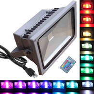 50W RGB Flood Light - TDLTEK 50W RGB Color Changing LED Flood Light /Spotlight/Landscape Lamp/Outdoor Security Light With[ Memory Function], [US 3 prong plug] and [Remote Controller]