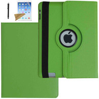 iPad 2 Case, iPad 3 Case, iPad 4 Case, Lingsor 360 Degree Rotating Stand Magnetic Smart Leather Cover Auto Sleep Wake For iPad 2/3/4 With Film And Stylus, Green
