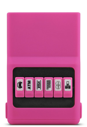 Front view of the Hot Pink ACM®Wallet.