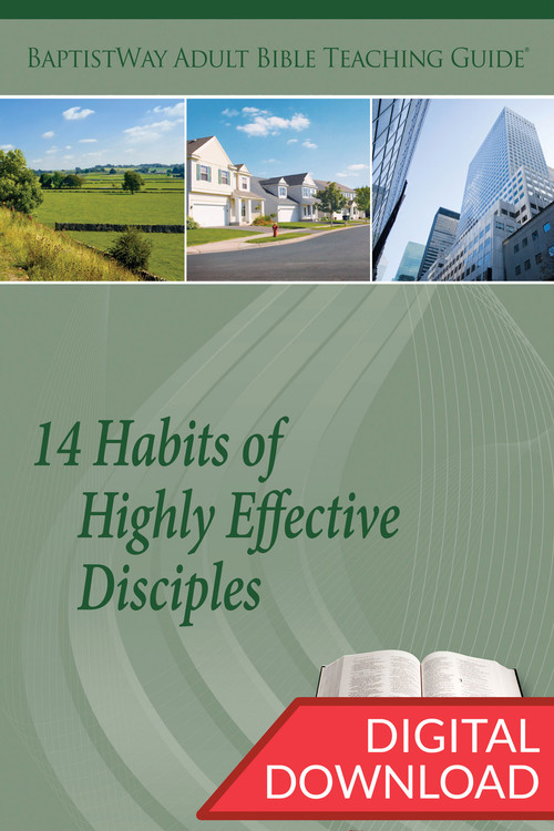 Digital Bible commentary with 2 complete teaching plans for leading a Bible study on these 14 Habits of Highly Effective Disciples. 14 lessons; PDF; 151 pages