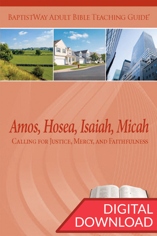 Digital teaching guide with Bible Commentary and 2 sets of teaching plans for each lesson in the Books of Amos, Hosea, Isaiah, and Micah. PDF; 168 pages.