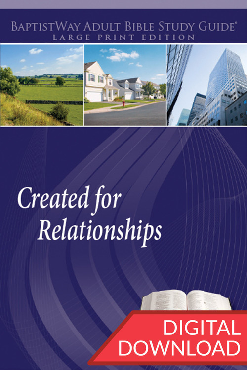 Digital large print bible study that focuses on 13 different relationships that people have with others PDF; 221 pages.