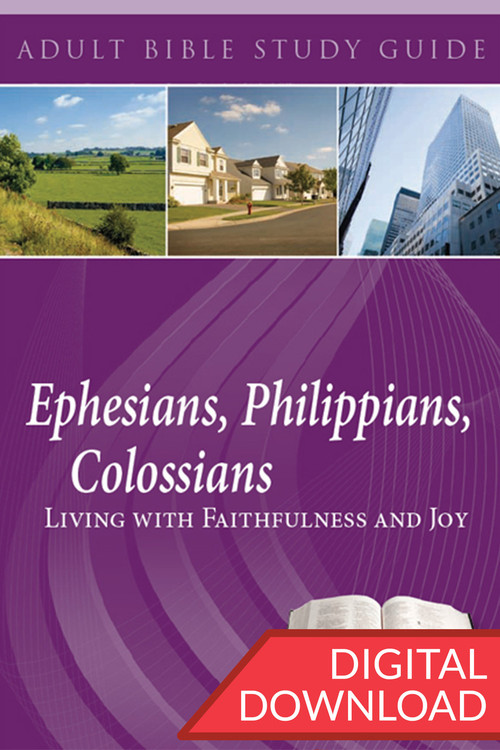 Digital Bible study on thirteen lessons from Ephesians, Philippians, and Colossians. Complete with devotional commentary and reflection questions for all 13 lessons. PDF; 142 pages.