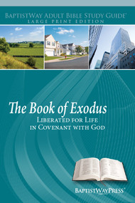 Large print study guide on Exodus for individual or adult Sunday school over a 14 lesson period. Paperback; 262 pages.