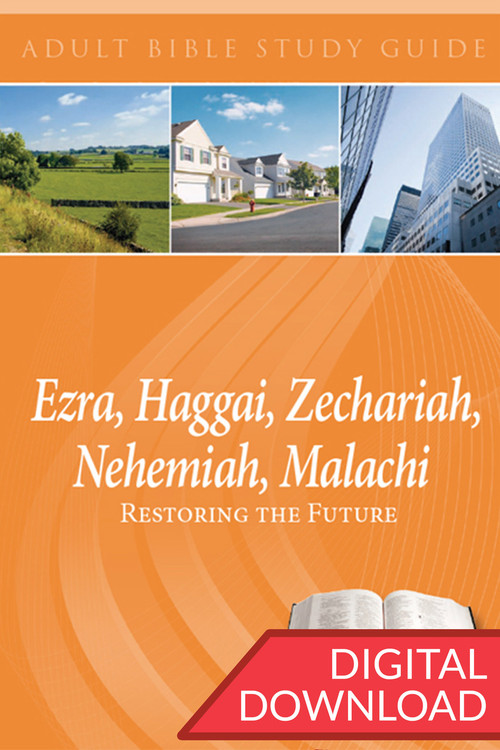 Digital Bible study of the Books of Ezra, Haggai, Zechariah, Nehemiah, and Malachi. 14 lessons; PDF; 182 pages.