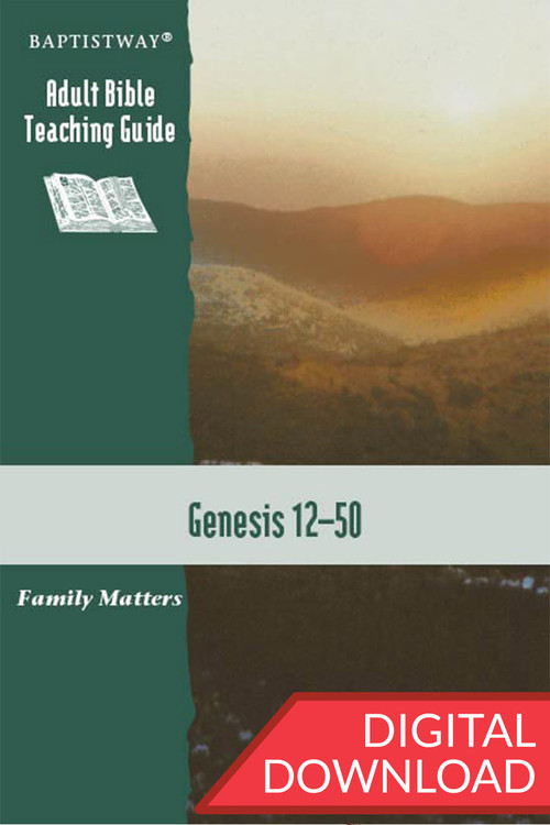 Digital teaching Guide on Genesis 12-50 with 13 lessons of Bible commentary and teaching plans. Digital PDF; 157 pages.