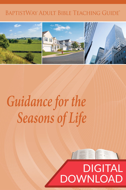 Digital teaching guide with Bible commentary and teaching plans to lead a group Bible study of the various stages of adulthood. PDF; 151 pages.