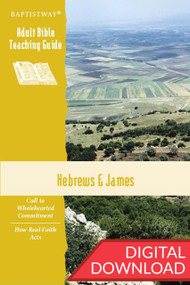Digital Bible commentary on Hebrews and James  with 2 sets of teaching plans for each of the 13 lessons; PDF; 143 pages.