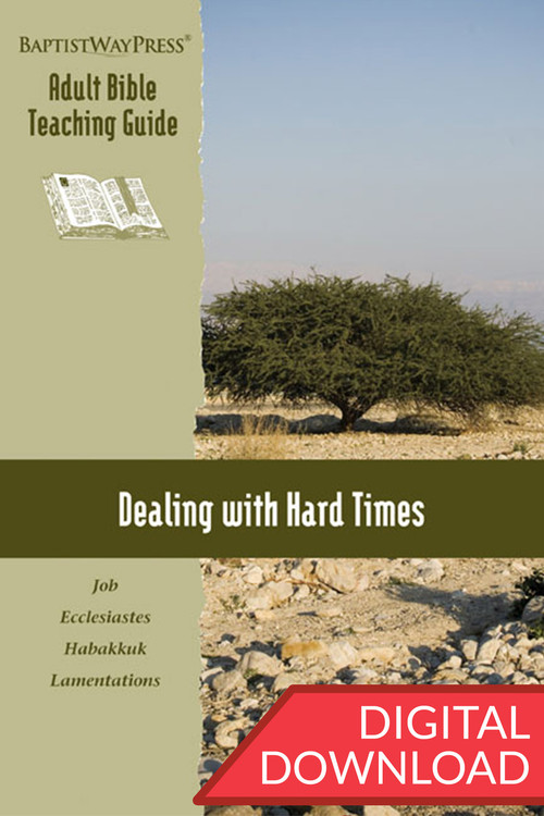 Digital teaching guide on 13 lessons from Job, Ecclesiastes, Habakkuk, and Lamentations complete with commentary and teaching plans to lead a class. PDF; 155 pages.