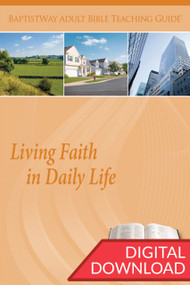 Digital teaching guide complete with Bible commentary and 2 sets of teaching plans on this study of the Biblical theme of Living Faith in Daily Life. PDF; 154 pages.
