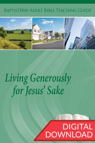 Digital Bible study of how Christians can Live Generously with their whole lives. Complete with Bible comments on the selected passages and 2 sets of teaching plans for each lesson. 13 lessons; PDF; 151 pages.